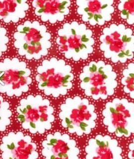 Cotton Flower In Circle On Red