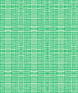 Cotton Stitch Check In Green