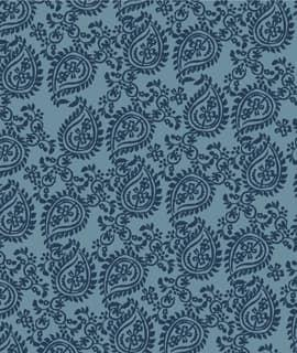 Cotton Paisley In Blue