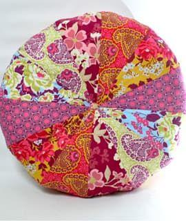 Beginner Sewing: Patchwork Pouf