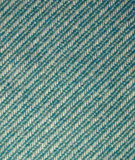 Wool Mix Diagonal In Teal